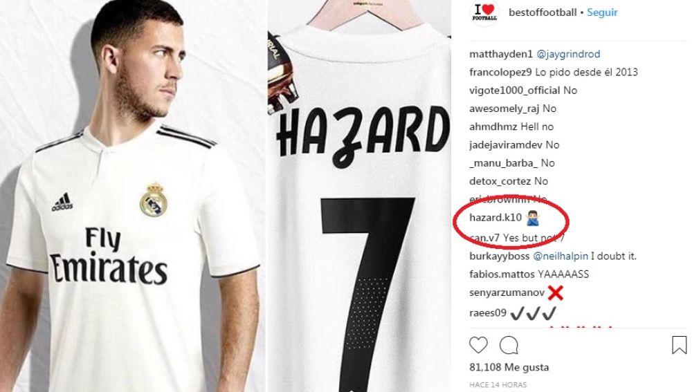 La encuesta sobre Hazard con el comentario de su hermano