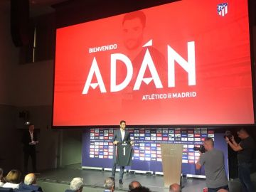 Antonio Adán, en su presentación con el Atlético