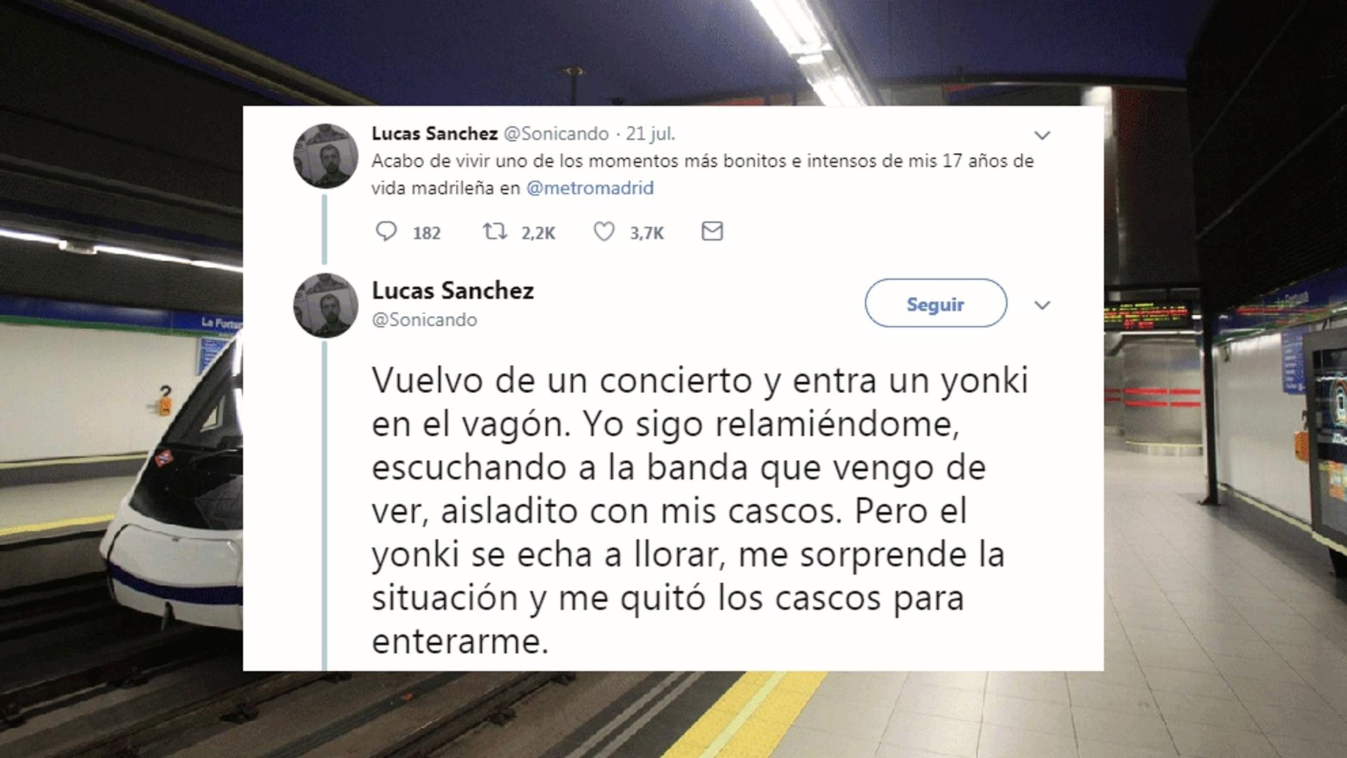 Emotiva historia en el metro