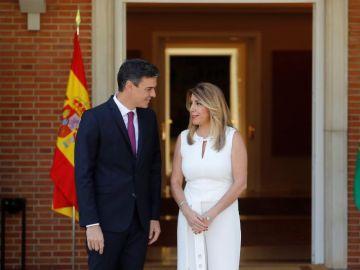 Pedro Sánchez y Susana Díaz en el Palacio de La Moncloa