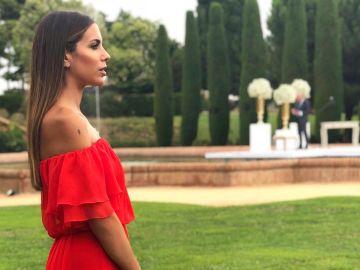 Melissa Jiménez en la boda de Pol Espargaró