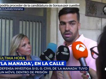 """El guardia civil de 'La Manada' rompe su silencio: """"Es totalmente falso que haya tenido un móvil en prisión"""""""
