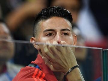 James Rodríguez durante el Colombia-Inglaterra