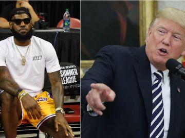 LeBron James y Donald Trump