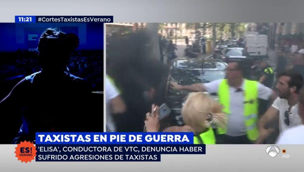 """Conductora de VTC: """"Me han amenazado directamete a la cara de muerte"""""""