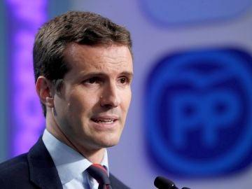 Foto de archivo de Pablo Casado, presidente del PP