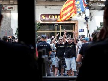 Taxistas a las puertas de la Generalitat Valenciana