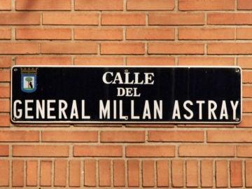 Cartel de la calle General Millán Astray