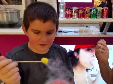 Un niño asmático sufre un ataque de asma al ingerir un cereal con nitrógeno líquido