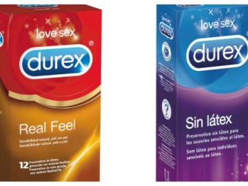 Imagen de dos cajas de preservativos Durex