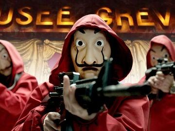 Los atracadores de 'La casa de papel' asaltan el Museo de Cera de París