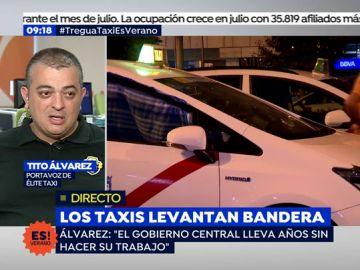 """Álvarez, portavoz de 'Élite taxi': """"El gobierno central lleva años sin hacer su trabajo"""""""