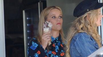 Reese Witherspoon en el rodaje de 'Big Little Lies'