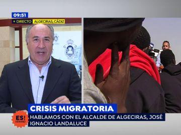 """Landaluce, alcalde Algeciras: """"El Gobierno ha venido aquí tras anunciar Casado que vendría"""""""