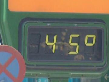 Termómetro marcando 45º