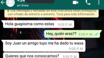Conversacion de WhatsApp