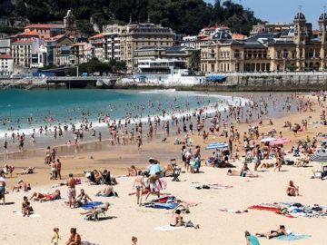 Playa de La Concha, en San Sebastián