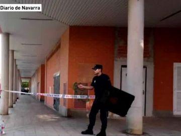 NO USAR Hombre atrincherado en Pamplona