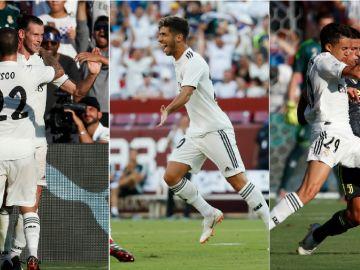 Bale, Asensio y Reguilón, en el partido ante la Juventus