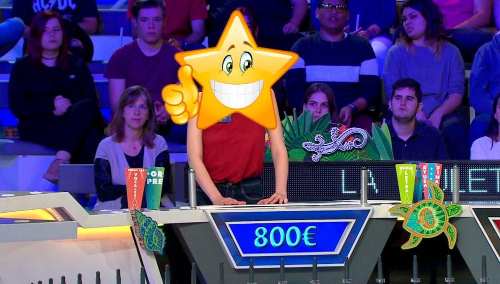 La concursante con más suerte de 'La Ruleta'