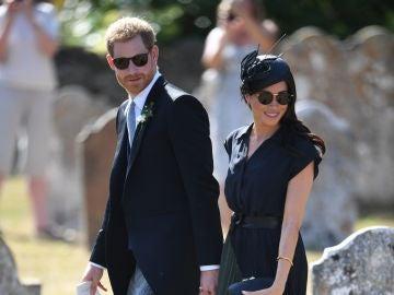 Meghan Markle y el príncipe Harry el día del cumpleaños de Meghan
