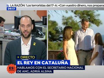 "Adrià Alsina: ""El rey renunció a serlo de parte de los catalanes después del discurso del 3 de octubre"""