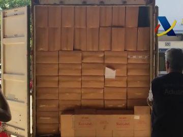 Intervenidas en el Puerto de Barcelona 1,5 millones de cajetillas de tabaco de contrabando