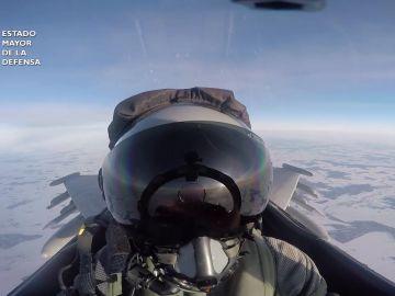 Un Eurofighter español dispara accidentalmente un misil en una misión de adiestramiento en Lituania