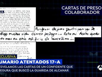 La carta de un preso que colaboró con los terroristas de Barcelona