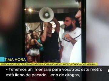Los evangelistas del metro de Valencia son condenados a prisión