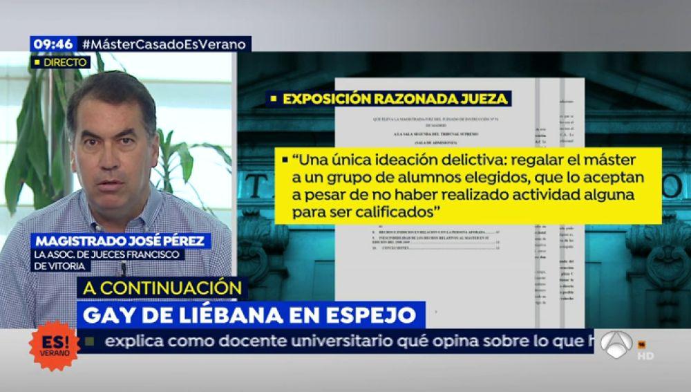 'Espejo Público' entrevista al magistrado José Pérez para hablar sobre el auto del caso de Pablo Casado