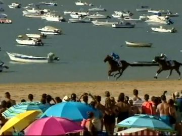 Llegan las carreras de caballos en la playa de Sanlúcar