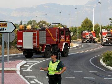 Imagen de los efectivos de bomberos