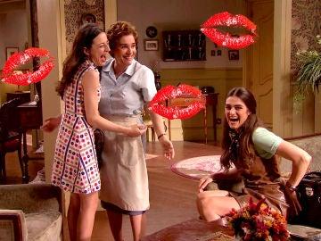 Un lío de besos en el rodaje de 'Amar' provoca las risas de Anabel Alonso, Ruth Núñez y Olivia Molina