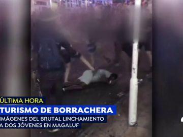 Brutal linchamiento a dos jóvenes turistas en Magaluf