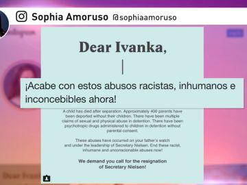 '#DearIvanka': Instagram tiene algo que decirle a la hija de Trump