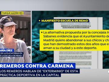 """Portavoz de la defensa de la escuela de remo: """"No nos vamos a mover aquí hasta que nos den una alternativa viable en el municipio de Madrid"""""""