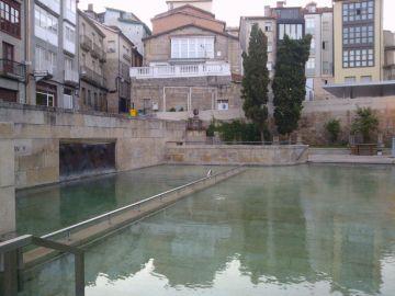 Crisis de coronavirus. Cierre de Ourense. Fuentes termales As Burgas