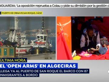 Los pasos que seguirán los inmigrantes del barco Open Arms al desembarcar en el puerto de San Roque