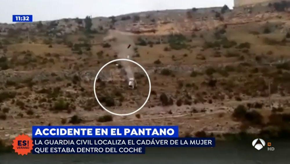 Encuentran el cuerpo sin vida de la mujer que se precipitó con su coche al pantano de Alarcón