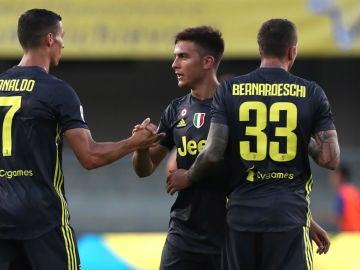 Cristiano celebra un gol de la Juventus