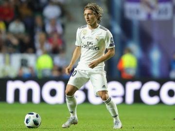 Modric, durante la Supercopa de Europa