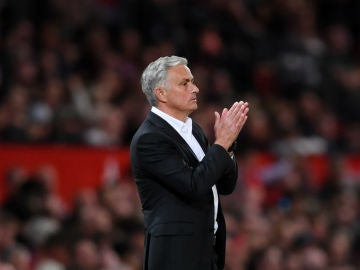 Mourinho, en un partido del United