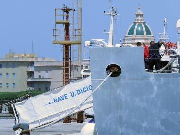 El barco de la Guardia Costera italiana 'Diciotti'