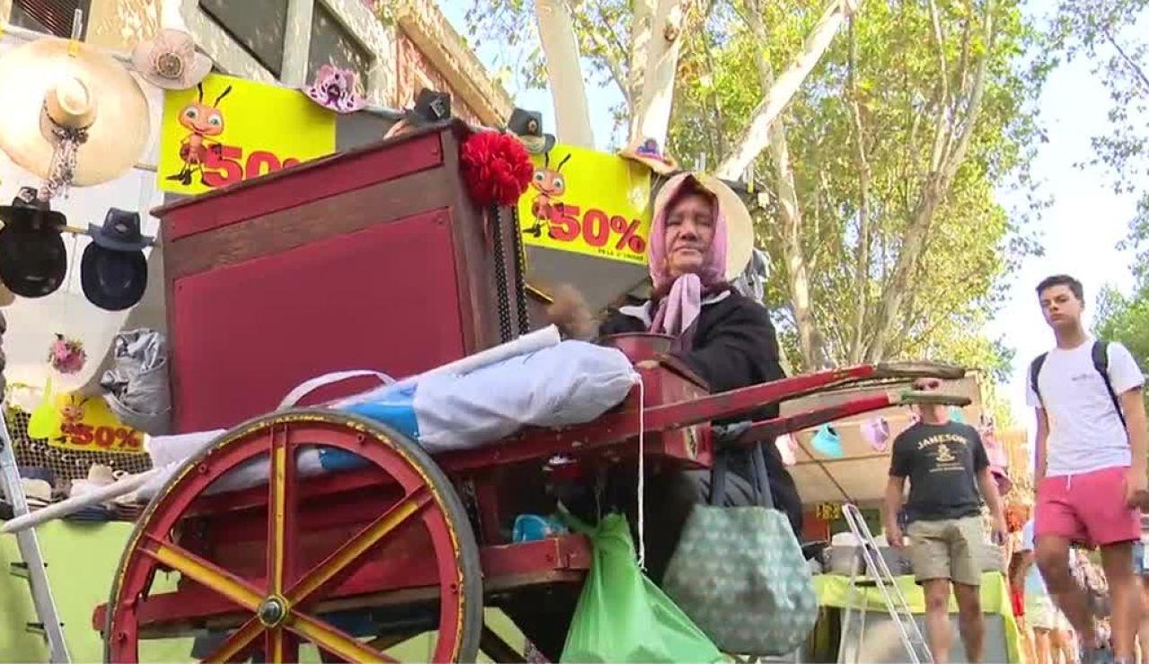 Mujer en El Rastro de Madrid