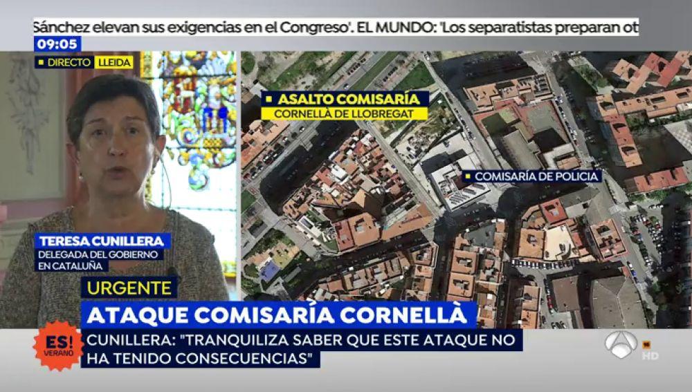 """Teresa Cunillera, delegada del Gobierno en Cataluña: """"Este ataque no ha tenido consecuencias"""""""