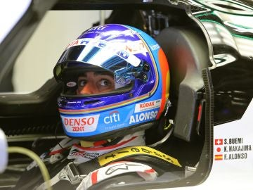 Fernando Alonso, durante las Seis Horas de Silverstone