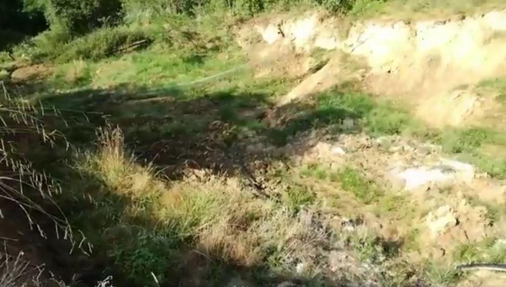 Corrimiento de tierra en Vizcaya