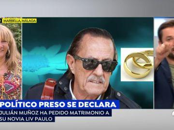 Julián Muñoz pide matrimonio a su novia desde la cárcel