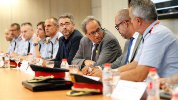 Quim Torra, en la reunión del Gabinete Antiterrorista
